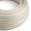 RM00 Ivory Round Rayon Electrical Fabric Cloth Cord Cable