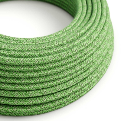 RX08 Bronte Round Cotton Electrical Fabric Cloth Cord Cable