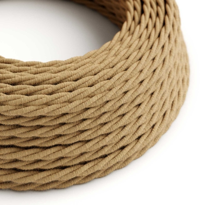 TN06 Jute Twisted Electrical Fabric Cloth Cord Cable