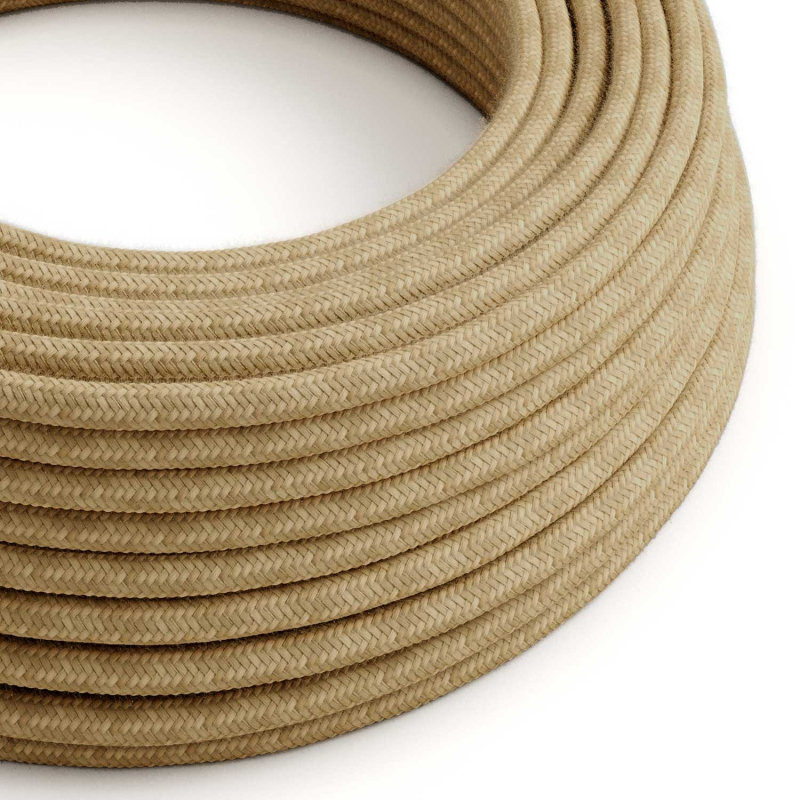 RN06 Jute Round Electrical Fabric Cloth Cord Cable