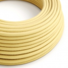 RC10 Pale Yellow Round Cotton Electrical Fabric Cloth Cord Cable