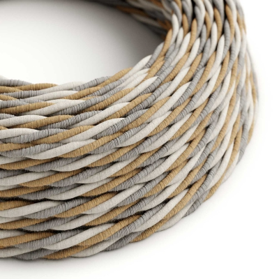 TN07 Country Twisted Jute, Cotton & Linen Electrical Fabric Cloth Cord Cable