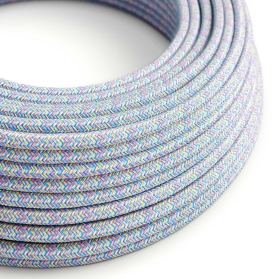 RX09 Lollipop Round Cotton Electrical Fabric Cloth Cord Cable