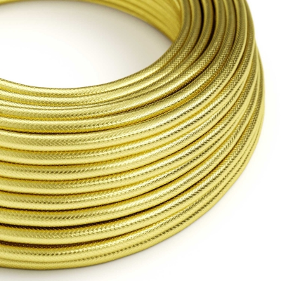 RR13 100% Brass coloured Copper covered Electrical Fabric Cloth Cord Cable