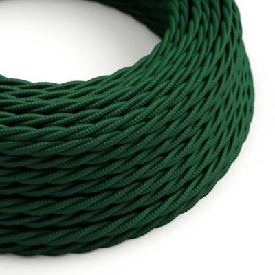 TM21 Dark Green Twisted Rayon Electrical Fabric Cloth Cord Cable