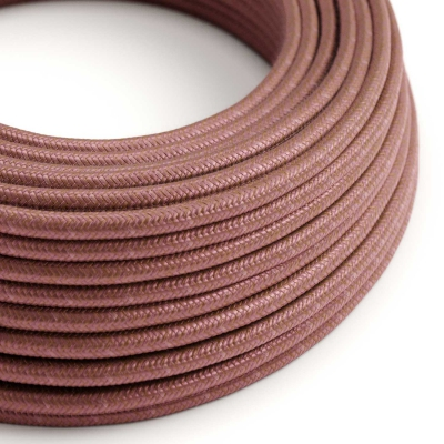 RX11 Marsala Round Cotton Electrical Fabric Cloth Cord Cable