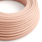 RX13 Salmon Round Cotton Electrical Fabric Cloth Cord Cable