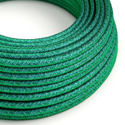 RM33 Emerald Round Rayon Electrical Fabric Cloth Cord Cable