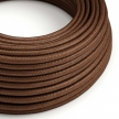 RM36 Rust Round Rayon Electrical Fabric Cloth Cord Cable