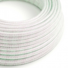 RL00 Unicorn Glitter Round Rayon Electrical Fabric Cloth Cord Cable