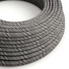 ERC37 Black Mélange Vertigo Round Cotton Electrical Fabric Cloth Cord Cable