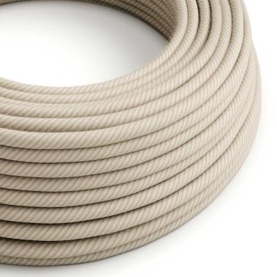 ERD20 Straw Vertigo Round Cotton & Linen Electrical Fabric Cloth Cord Cable