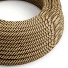 ERD21 Tobacco Vertigo Round Jute & Cotton Electrical Fabric Cloth Cord Cable