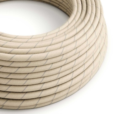 ERD23 Oat Vertigo Round Cotton & Linen Electrical Fabric Cloth Cord Cable