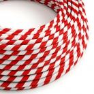 ERM39 Candy Cane Vertigo HD Round Electrical Fabric Cloth Cord Cable
