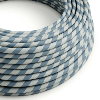 ERM40 Light Blue & Avio Blue Vertigo HD Round Electrical Fabric Cloth Cord Cable