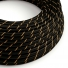 ERM42 Black & Gold Vertigo HD Round Electrical Fabric Cloth Cord Cable