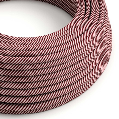 ERM47 Pink & Maroon Vertigo HD Round Electrical Fabric Cloth Cord Cable