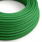 ERM48 Kiwi & Dark Green Vertigo HD Round Electrical Fabric Cloth Cord Cable