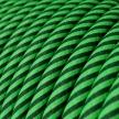 ERM48 Kiwi & Dark Green Vertigo HD Round Electrical Fabric Cloth Cord Cable