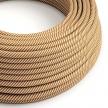 ERM49 White & Whiskey Vertigo HD Round Electrical Fabric Cloth Cord Cable