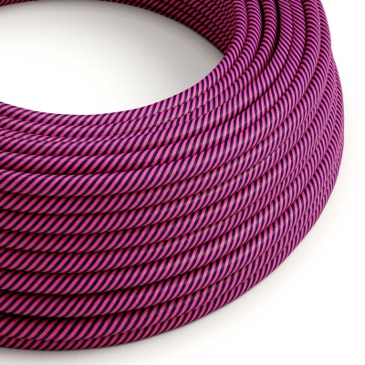 ERM50 Fuchsia & Dark Purple Vertigo HD Round Electrical Fabric Cloth Cord Cable