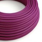 ERM50 Fuchsia & Dark Purple Vertigo HD Round Electrical Fabric Cloth Cord Cable