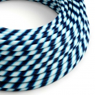ERM60 Mr Blue Vertigo HD Round Electrical Fabric Cloth Cord Cable