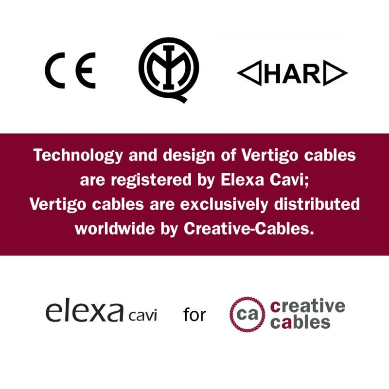 ERM63 Mr Grey Vertigo HD Round Electrical Fabric Cloth Cord Cable