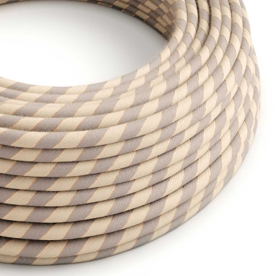 ERR05 Copper Thread Vertigo Cotton and Linen Round Electrical Fabric Cloth Cord Cable