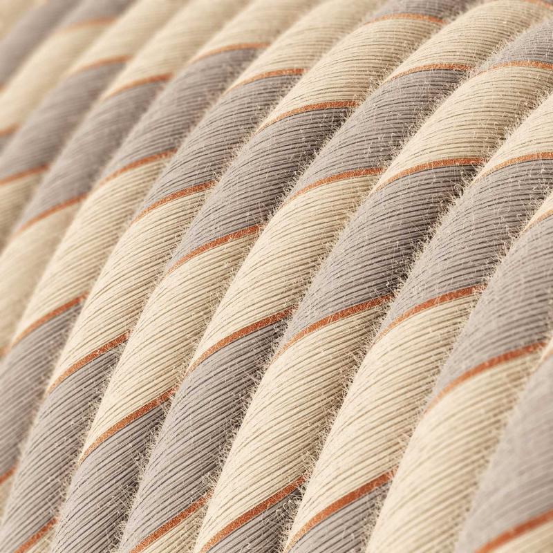 ERR05 Copper Thread Vertigo Cotton and Linen Round Electrical Fabric Cloth Cord Cable