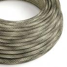 ERM65 Black and Gold Vertigo HD Optical Round Electrical Fabric Cloth Cord Cable