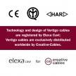 ERM67 Black and Grey Vertigo HD Optical Round Electrical Fabric Cloth Cord Cable