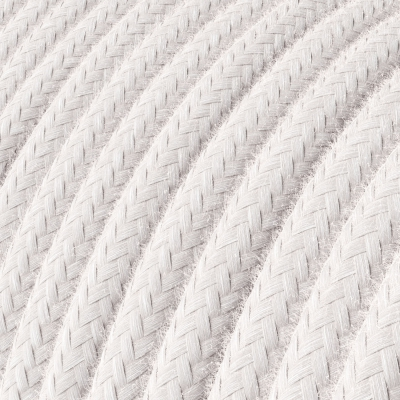RC16 Pale Pink Round Cotton Electrical Fabric Cloth Cord Cable