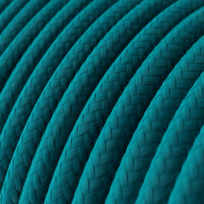 RC21 Cerulean Round covered Cotton Electrical Fabric Cable