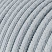 RM30 Light Blue and Grey Round covered Rayon Electrical Fabric Cable