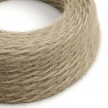 TP13 Plain Khaki Marlene twisted lighting cable covered in hairy-effect fabric