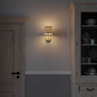 Fermaluce Cottage, ceramics wall light with lampshade and bent extension