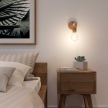 Fermaluce Wood, wooden wall light with bent extension