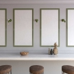 Fermaluce Color, porcelain and metal wall light with bent extension