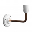 Fermaluce Classic, metal and porcelain wall light with bent extension