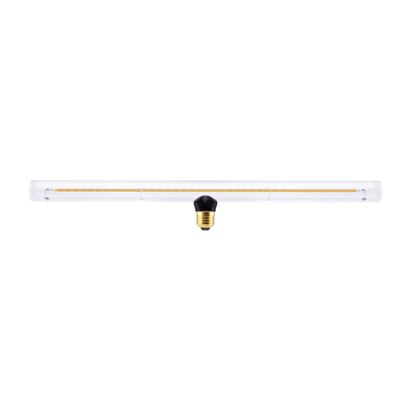 Fermaluce S14 System, contemporary flush light with S14d fitting socket and oval wooden ceiling rose