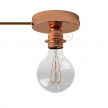 Spostaluce, the metal light source with E27 threaded lamp holder, fabric cable and side holes