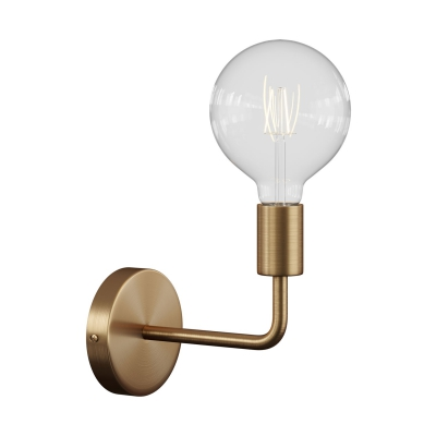 Fermaluce Metal, metal wall light with bent extension