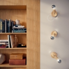 Fermaluce Wood 90°, the natural wood flush light for your wall or ceiling