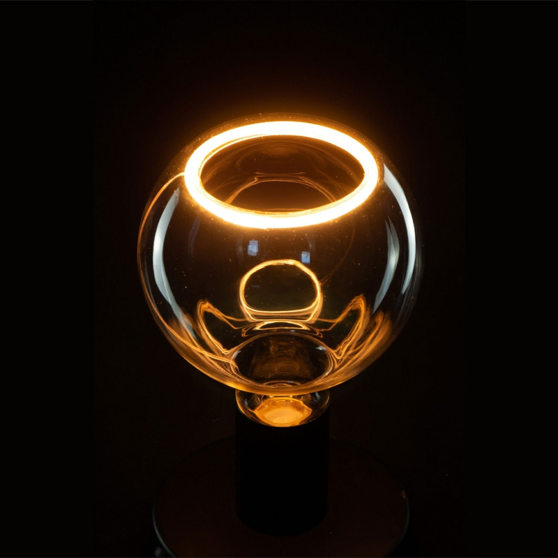 LED Globo G125 Clear Linea Floating 8W Dimmable 2200K bulb