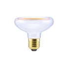 LED Reflector R80 Clear Floating Line 8W Dimmable 2200K bulb