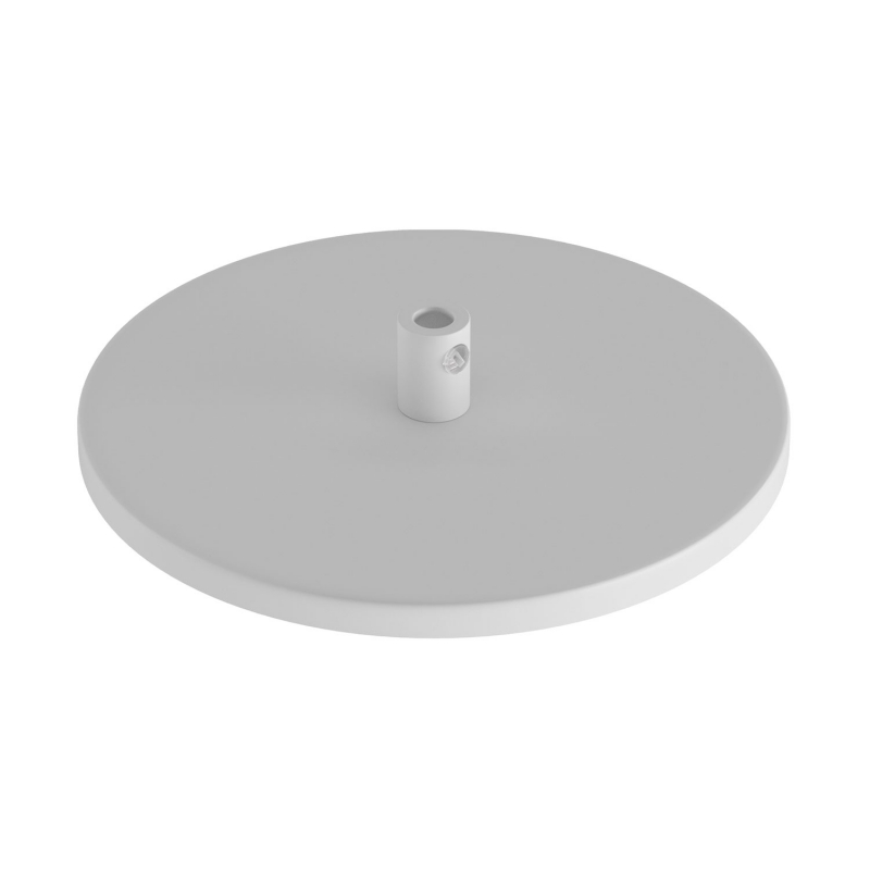 Flush-mounted ceiling rose with 1 central hole