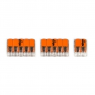 WAGO connector kit compatible with 2x cable for 3 hole ceiling rose