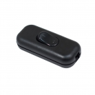 Double Pole in-line Switch, Black - 1 pc